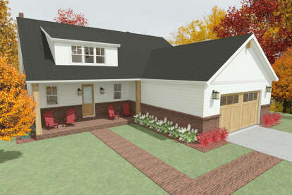 4 Bed, 2 Bath, 2605 Square Foot House Plan - #1462-00022