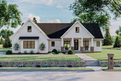 4 Bed, 2 Bath, 2337 Square Foot House Plan - #963-00424