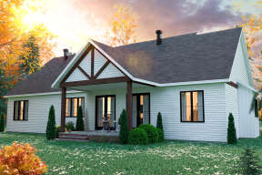 Modern Farmhouse House Plan #034-01249 Elevation Photo