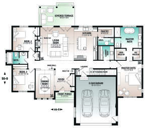 Main Floor for House Plan #034-01249