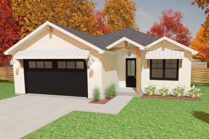 3 Bed, 2 Bath, 1998 Square Foot House Plan #1462-00024