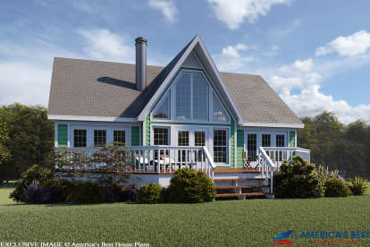 2 Bed, 2 Bath, 1280 Square Foot House Plan #053-00214