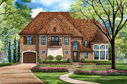 5 Bed, 5 Bath, 5193 Square Foot House Plan #5445-00374