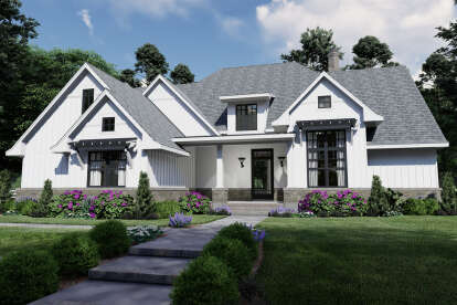 4 Bed, 4 Bath, 2191 Square Foot House Plan - #9401-00110