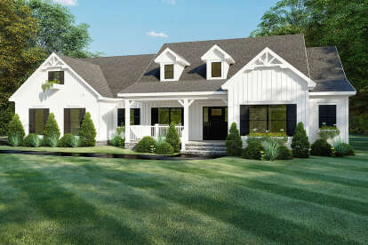 4 Bed, 2 Bath, 2294 Square Foot House Plan - #8318-00160