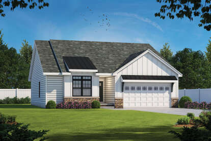 3 Bed, 2 Bath, 1603 Square Foot House Plan - #402-01651