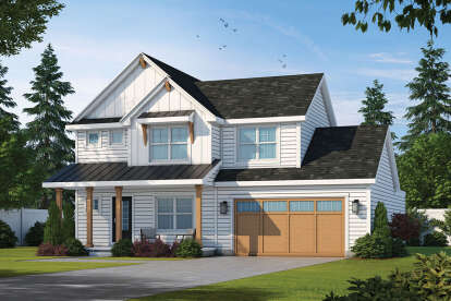 4 Bed, 3 Bath, 2448 Square Foot House Plan - #402-01652