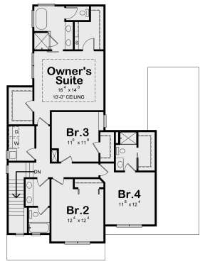Second Floor for House Plan #402-01652