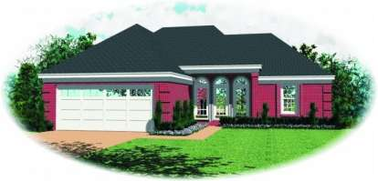 3 Bed, 2 Bath, 1302 Square Foot House Plan - #053-00220
