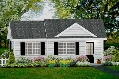 1 Bed, 1 Bath, 560 Square Foot House Plan - #1502-00001