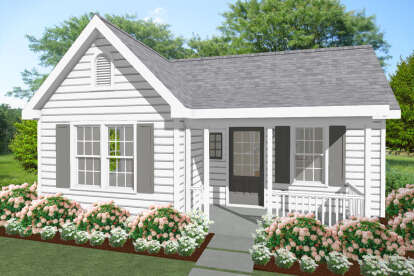 1 Bed, 1 Bath, 550 Square Foot House Plan - #1502-00002