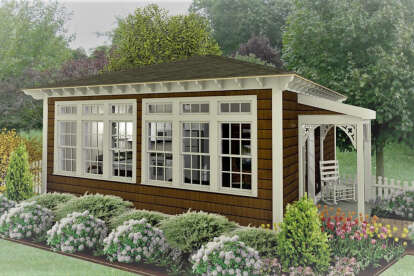 1 Bed, 1 Bath, 400 Square Foot House Plan - #1502-00003