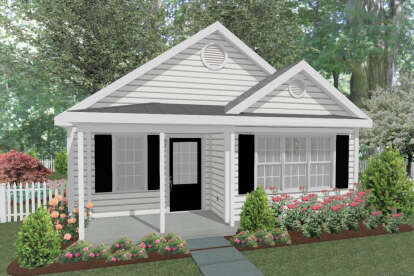1 Bed, 1 Bath, 551 Square Foot House Plan - #1502-00004