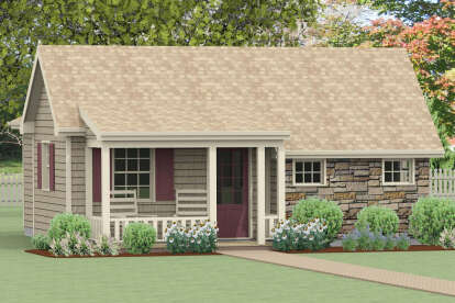 1 Bed, 1 Bath, 664 Square Foot House Plan - #1502-00005