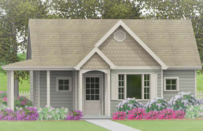 1 Bed, 1 Bath, 600 Square Foot House Plan - #1502-00006