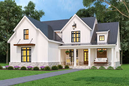 3 Bed, 3 Bath, 1999 Square Foot House Plan #4195-00037