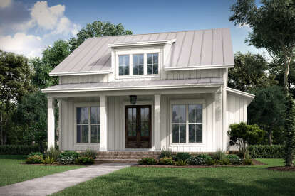 2 Bed, 2 Bath, 1257 Square Foot House Plan #041-00227