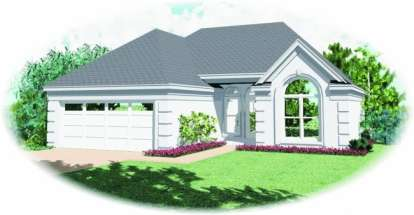 3 Bed, 2 Bath, 1320 Square Foot House Plan - #053-00224