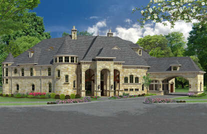 4 Bed, 5 Bath, 7924 Square Foot House Plan - #5445-00396