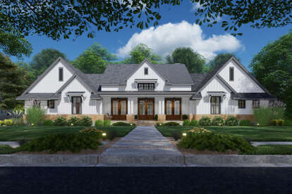 4 Bed, 3 Bath, 3077 Square Foot House Plan #9401-00111