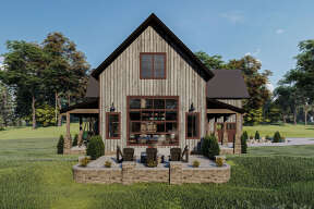 Mountain Rustic  House Plan #963-00440 Elevation Photo