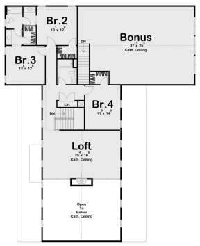 Second Floor for House Plan #963-00440