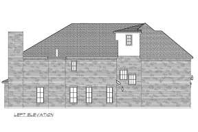 European House Plan #5445-00405 Elevation Photo