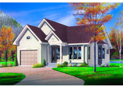 2 Bed, 1 Bath, 1103 Square Foot House Plan - #034-00004