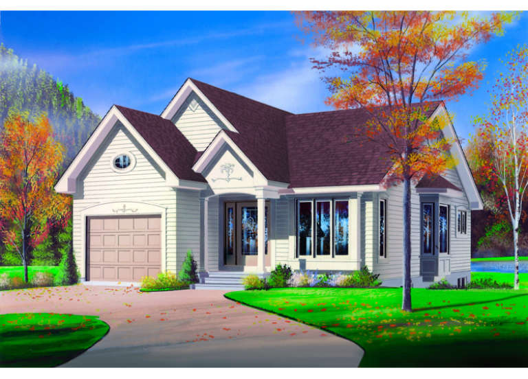 Traditional House Plan #034-00004 Elevation Photo