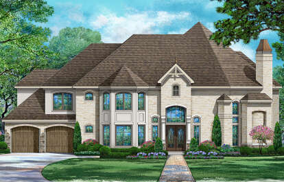 4 Bed, 4 Bath, 4298 Square Foot House Plan - #5445-00429