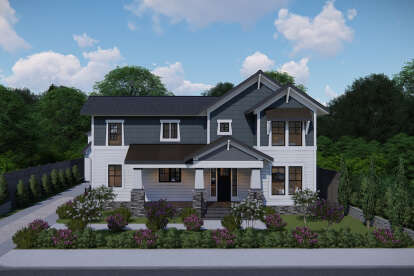 4 Bed, 3 Bath, 2569 Square Foot House Plan - #3571-00006