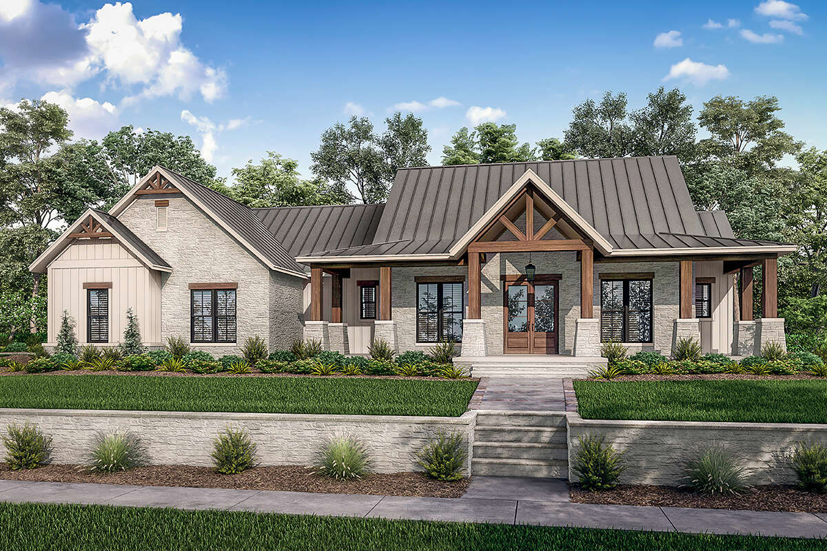 Modern Farmhouse Plan: 2,454 Square Feet, 3 Bedrooms, 2.5 ...