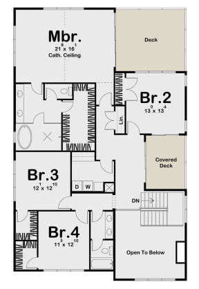 Second Floor for House Plan #963-00441