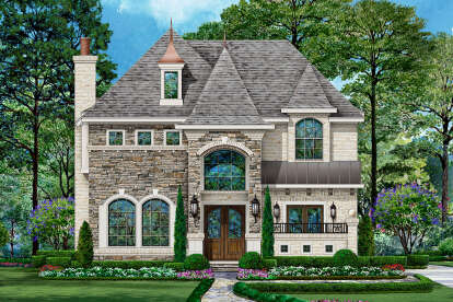 4 Bed, 4 Bath, 4302 Square Foot House Plan - #5445-00435