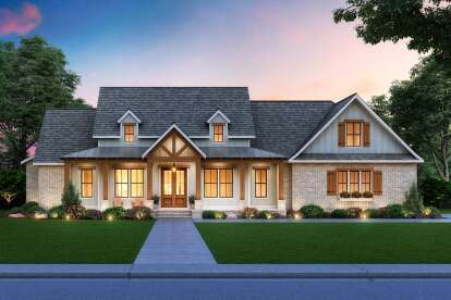 3 Bed, 2 Bath, 4534-00035 Square Foot House Plan - #4534-00035