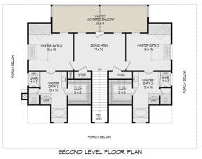 Second Floor for House Plan #940-00248