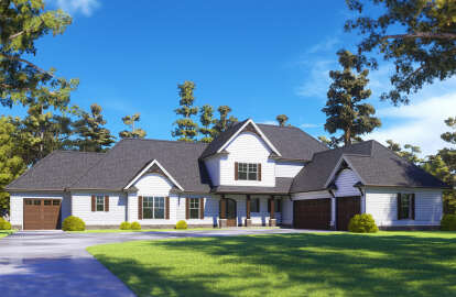 4 Bed, 3 Bath, 3088 Square Foot House Plan #286-00110
