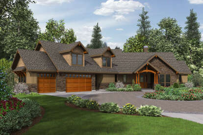 3 Bed, 2 Bath, 2637 Square Foot House Plan #2559-00843