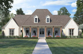 French Country House Plan #4534-00036 Elevation Photo