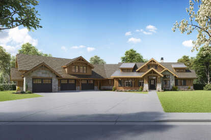 3 Bed, 3 Bath, 2803 Square Foot House Plan #5631-00132