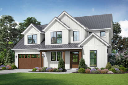 4 Bed, 2 Bath, 2618 Square Foot House Plan #2559-00844