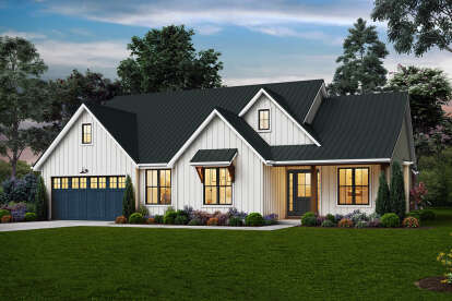 4 Bed, 3 Bath, 2213 Square Foot House Plan - #2559-00848