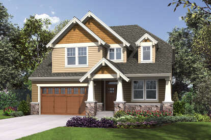 5 Bed, 3 Bath, 3800 Square Foot House Plan - #2559-00863
