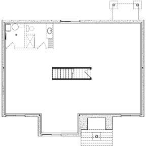 Basement for House Plan #034-01278