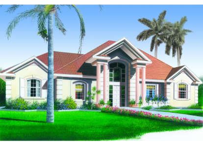3 Bed, 2 Bath, 1736 Square Foot House Plan - #034-00005