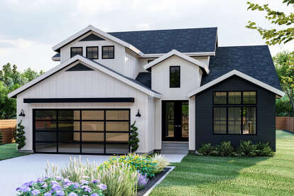 4 Bed, 3 Bath, 2983 Square Foot House Plan - #963-00448