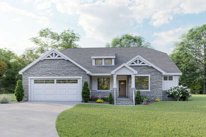 3 Bed, 2 Bath, 2178 Square Foot House Plan #2802-00069