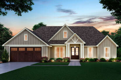 4 Bed, 2 Bath, 1889 Square Foot House Plan #4534-00037
