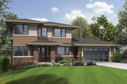5 Bed, 3 Bath, 3261 Square Foot House Plan - #2559-00865