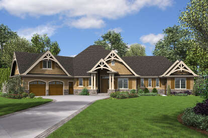 4 Bed, 3 Bath, 2801 Square Foot House Plan - #2559-00875
